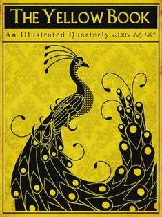 couverture de la revue periodique The yellow book by Aubrey Beardsley, 1897 directeur artistique