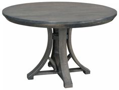 Amish Dawson Round Dining Table Dinner time is sure to be delightful at a solid wood Dawson. Contemporary look. Quality materials. Durable build. Choose wood, stain, table edge, size, extensions and more. #customtables