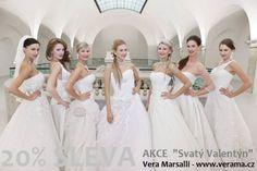 Saint Valentine´s Day Special Offer 20% OFF for all bridal gowns. From 14.2. to 21.2. SvatoValentýnská sleva 20% na všechny svatební šaty - pronájem i prodej - a to v týdnu od 14. do 21.2. www.verama.cz