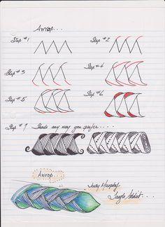 Pattern / Art Design / Zentangle - Art Tutorial