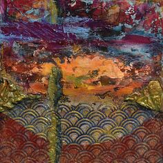"""In the Valley by Sandra Duran Wilson Mixed Media ~ 10"""" x 10"""""""