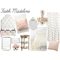 """Pink and Gold Girl's Room"" by slarose1 on Polyvore"