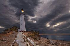 Castle Point Lighthouse - Castle Point Lighthouse, sunrise, Wairarapa, New Zealand