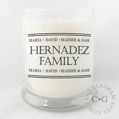 CandleGram 10oz Soy Candle....Family by CandleGram on Etsy