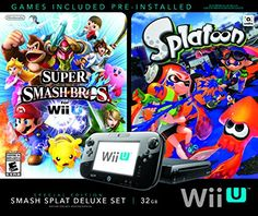 Wii U Super Smash Bros and Splatoon Bundle  Special Edition Deluxe Set