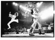 Annie Leibovitz at work again - the Rolling Stones, Philadelphia, 1975.- by Annie Leibovitz