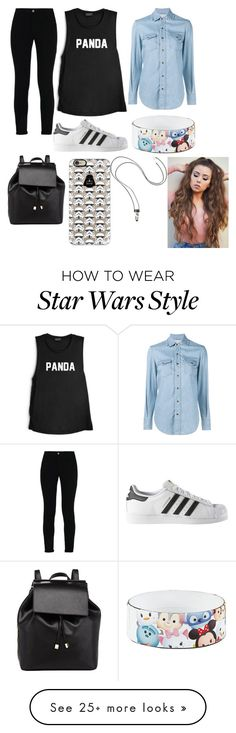 """""""Untitled #147"""" by carolinamedrano on Polyvore featuring STELLA McCARTNEY, Yves Saint Laurent, adidas, Disney, Barneys New York and Casetify"""