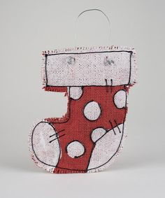 Take a look at this Stocking Burlap Ornament by Winter Wonderland: Décor Accents on #zulily today!