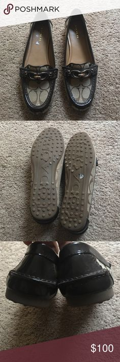 Authentic coach shoes Worn once still in perfect condition Coach Shoes Flats & Loafers