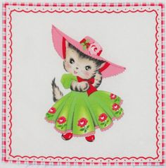 I love pillows made with Pam Kitty fabric blocks, decorate them with lace or ribbons and make a little girl smile.