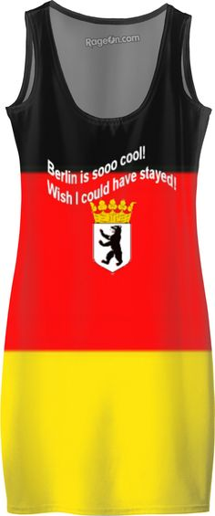 """Custom Simple Dress: Your fashionable, flamboyant Fashion-Souvenir directly from Berlin, the capital and the largest city of Germany.  Your personal statement """"Wish I could have stayed!"""" proves: You've been to Berlin, you travel the world!  Bed Duvet cover, shower curtain, Sweatshirt, Hoodie, Yoga Pants, Joggers, Leggings, Phone Case, Beach Towel, Tank Top, Crop Top, T-Shirt,  underwear, swim shorts, Bandana, Onesie, couch pillow, pillowcase, Classic T-Shirt."""