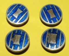 Vintage Snap Metal Cuff Links Art Deco Style by TheIDconnection, $38.00