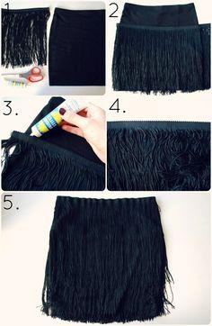 Halloween DIY: Flapper Fringe Skirt