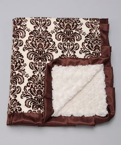 Take a look at this Brown & Cream Damask Paris Throw Blanket by Blow-Out on #zulily today! Love this!!!