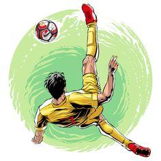 - Soccer Illustrations by Cristiano Siqueira – Inspiration Grid Football Design, Football Art, Worldcup Football, Soccer Drawing, Football Tattoo, Sports Drawings, Soccer Art, Ball Drawing, Pop Art Girl