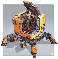 ArtStation - B0X-Bot, Cameron Sewell