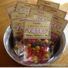 DIY Father's Day: Daddy…I Love You To Pieces Printable *Great for Mother's Day too!