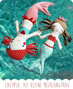 Seaming: The mermaid Calypso - Kids' Crafts Mermaid Dolls, Sewing Dolls, Easy Sewing Projects, Soft Dolls, Diy Doll, Jouer, Cute Dolls, Fabric Dolls, Sewing For Kids