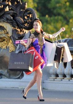 Girls just wanna have FUN with TONS of high-end shopping bags!
