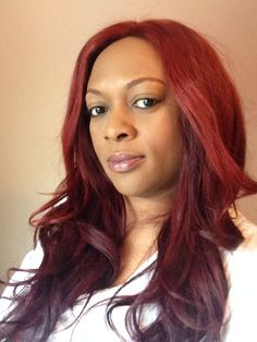 3 bundles #beehivehair and a closure.  www.beehivehair.co.uk  Coloured red and layered.