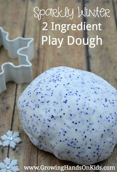 Sparkly Winter 2 Ingredient Play Dough