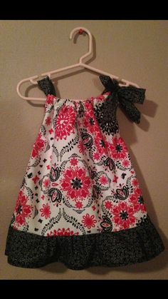 Pillow Case Dress  Size: 12 months  Red & Black by Sewn4ACause