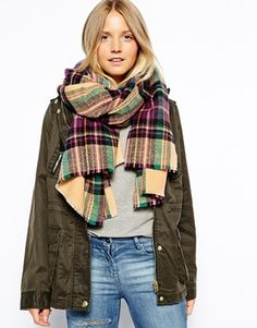 must have for fall! #blanketscarf #plaidscarf