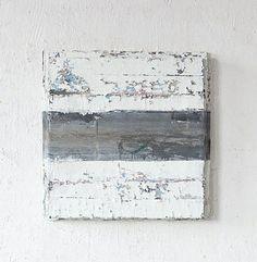 TITLE:  Eastpack   ARTIST: Jupp Linssen (German, b.1957)   WORK DATE:  2010   CATEGORY:  Paintings   MATERIALS:  Oil, zinc sheet on canvas   SIZE: h: 66 x w: 66 x d: 10 cm / h: 26 x w: 26 x d: 3.9 in