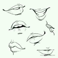 Girl's mouth drawing reference, perfect for comics. Mouth Drawing, Body Drawing, Anatomy Drawing, Drawing Faces, Smile Drawing, Sketch Mouth, Lips Sketch, Manga Drawing, Drawing Techniques