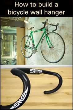 How to build a bicycle wall hanger Before you throw out your old bicycle, upcycle its parts to become a wall hook.
