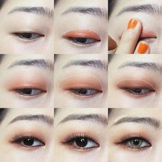 Korean makeup ideas; You may draw attention to your eyes to make them appear more attentive by utilizing a coat of dark black or brown waterproof mascara. #koreanmakeupideas #KoreanMakeupProducts #EyelinerTutorial Korean Makeup Tips, Korean Makeup Tutorials, Asian Makeup, Asian Eyeshadow, Eyeshadow Tips, Eyeshadow Tutorials, Eyeliner Tutorial, Highlighter Makeup, Makeup Lipstick