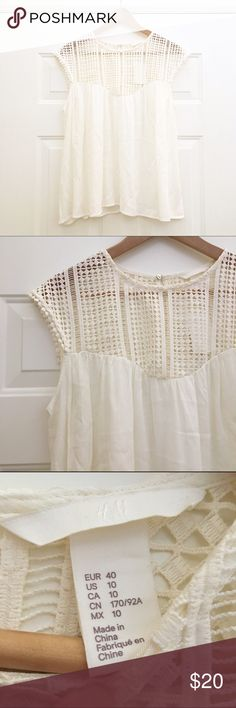 NWT H&M Boho Top Cream/ivory colored top with open shoulders and flowy body H&M Tops Blouses