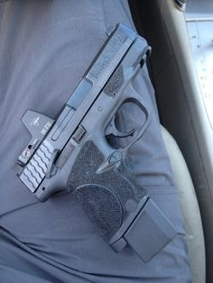 Smith & Wesson M&Pc extended mag /magazine grip.Great for concealed carry and with a longer grip for better control. Tactical Gear, Tactical Equipment, Airsoft Gear, Tactical Survival, Smith N Wesson, Smith And Wesson Shield, Home Defense, Cool Guns, Guns And Ammo