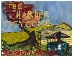 """""""THE HARDER THEY COME""""  2005 [""""The Harder They Come"""" JA 1972, 100', R / D: Perry Henzell] Sammlung Ringier oil on paper 57 x 73 cm / 22 x 29"""" PETER DOIG."""