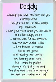 Daddy From The Bump Poem Jumbo Fridge Magnet Ideal Birthday Father's Day Gift – Baby Announcement Unborn Baby Quotes, Baby Daddy Quotes, Baby Poems, Father Quotes, New Dad Quotes, Mommy To Be Quotes, Advice Quotes, Daughter Quotes, Kids
