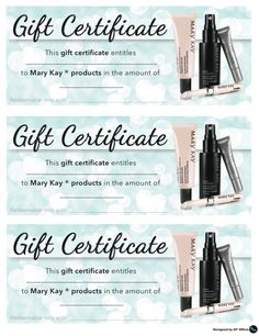 Mary Kay Christmas gift certificate Contact me to get yours! www ...