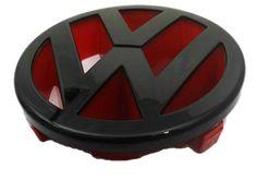 Black Red Front Grille Emblem for MK5 Rabbit, Golf, GTI & Jetta