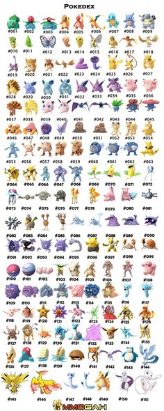 Pokedex in Pokemon Go from Mmogah.com
