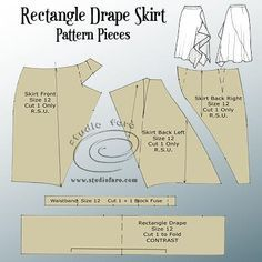 For this post you have an elegant Drape Skirt that can be cut from a basic skirt block or any pencil skirt pattern. I've included some interesting seaming that works well with the drap Pencil Skirt Casual, Denim Pencil Skirt, Pencil Skirts, Denim Skirt, Pencil Dresses, Pdf Sewing Patterns, Clothing Patterns, Vintage Patterns, Vintage Sewing