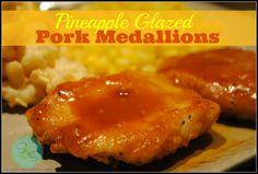 pineapples, dinner, pineappl glaze, delici pork, glaze pork