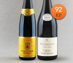 Duo Pinot Noir: Alsace Hugel et Fils e Bourgogne André Goichot #vinho #pinotnoir…