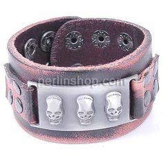 Rindsleder Armband, Kuhhaut, frei von Nickel, Blei & Kadmium, 40mm, Länge:ca. 9.5 Inch, perlinshop.com