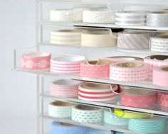 Washi tape storage-I actually don't have any washi tape but this would work for lots of my craft goods