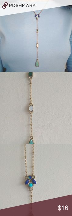 Long Chic Geometric Drop Gemstone Necklace These are new and come safely packaged and shipped to you ❤️ I inspect every aspect of my jewelry before shipping out to ensure there are no missing stones or damage before I package them and ship them out. Shipping is a little expensive so take advantage and bundle items to save! #jcrew #anthropologie 44cm, wt: 17g My Isabela's Jewelry Line is also available for wholesale purchase! Feel free to contact me about purchasing wholesale. I offer a very…
