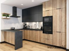 Loft Kitchen, Kitchen Pantry Design, Home Decor Kitchen, Interior Design Kitchen, Home Kitchens, Modern Kitchen Interiors, Contemporary Kitchen Design, Cuisines Design, Kitchen Remodel