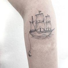 Boat/Ship Tattoo www.tatteo.com
