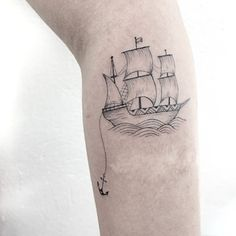 Boat/Ship Tattoo www.tatteo.com