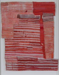 Stitched dyed cloth by Matthew Harris.