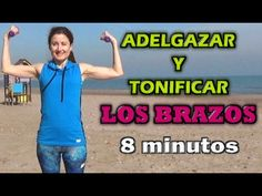 Toned, Lean Arms Workout - How To Lose Arm Fat - 8 minutes! Pilates Videos, Lean Arms, Lose Arm Fat, Yoga, Workout, Fitness, Youtube, Beauty, Bikini