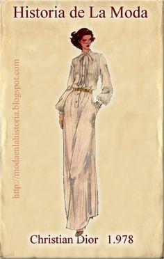 historia de la moda decada1970 La Moda en los Años 70( II) En esta época la Alta Costura pierde protagonismo fr... Fash Book, Christian Dior, Miss Match, Chic Dress, Fashion Books, Historical Clothing, Fashion History, Etsy Vintage, Retro